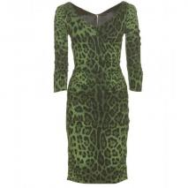 Dolce & Gabbana Animal-Print Kleid
