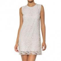 Dolce & Gabbana Baumwoll-Viskosen Galon Kleid Mit Spitze