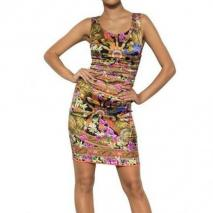 Dolce & Gabbana Bedrucktes Seiden Satin Kleid Colored