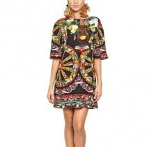 Dolce & Gabbana Bedrucktes Viskose Cady Kleid