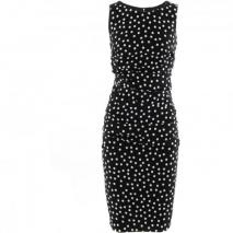 Dolce & Gabbana Black White Polka Dot Dress