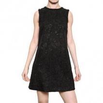 Dolce & Gabbana Gemischtes Woll Spitzen A Line Kleid