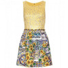 Dolce & Gabbana Gemustertes Kleid Yellow Sunflowers