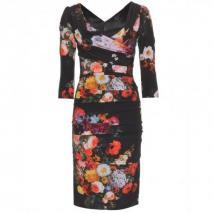 Dolce & Gabbana Gerafftes Print-Kleid