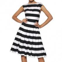 Dolce & Gabbana Gestreiftes Baumwoll Popelinen Kleid