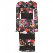 Dolce & Gabbana Kleid Mit Spitze Und Foto-Print