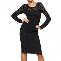 Dolce & Gabbana Seiden Viskose & Stretch Spitzen Kleid