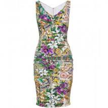 Dolce & Gabbana Seidenkleid Mit Print