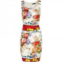 Dolce & Gabbana Seidenkleid Multicolor