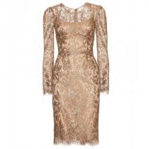 Dolce & Gabbana Spitzenkleid Gold