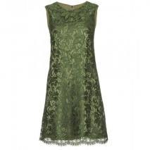 Dolce & Gabbana Spitzenkleid Grasgrün