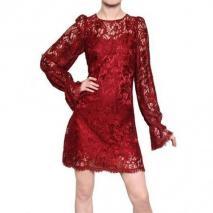 Dolce & Gabbana Viskose Spitzen A Line Kleid