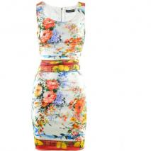 Dolce & Gabbana White Flower Fruit Print Dress