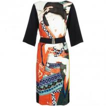 Dries van Noten Dashe Seidenkleid Asia-Print