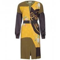 Dries Van Noten Dio Print-Kleid Aus Seide