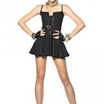 Dsquared Bustier-Kleid Aus Baumwolle Und Seidengeorgette