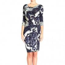 Emilio Pucci 3/4 sleeve jersey kaleidoscope dress