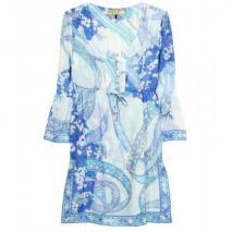 Emilio Pucci Beach Tunika-Kleid Mit Print Blue