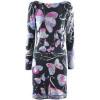Emilio Pucci Black Multi Print Silk Dress