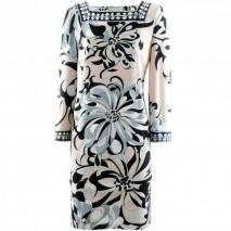 Emilio Pucci Black Rose Print Dress Adria
