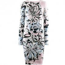 Emilio Pucci Black Rose Print Dress Fantasia