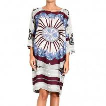 Emilio Pucci Charmeuse arcade print tunic dress