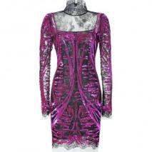 Emilio Pucci Fuchsia Sequined Lace Dress