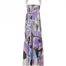 Emilio Pucci Ocean Multi-Cube Maxi Dress