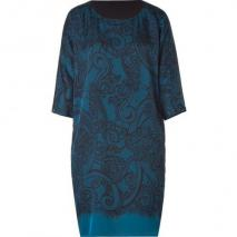 Emilio Pucci Petrol Lace Print Silk Dress