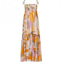 Emilio Pucci Pumpkin Multi-Cube Maxi Dress