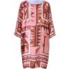 Emilio Pucci Rose/Caramel Printed Silk Dress
