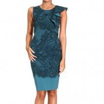 Emilio Pucci Sleeveless natte lace print dress