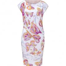 Emilio Pucci White Butterfly Print Jersey Dress