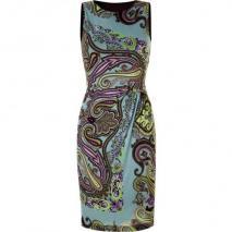 Etro Azure Draped Kleid