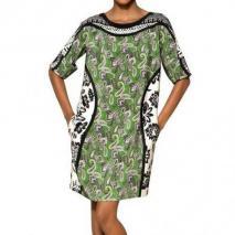 Etro Bedrucktes Kleid Aus Seidenjersey Grün gemustert
