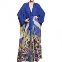 Etro Bedrucktes Seiden Georgette Kleid