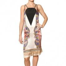 Etro Bedrucktes Seiden Satin & Crepe Kleid