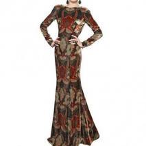 Etro Bedrucktes Viskose & Seiden Samt Kleid