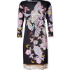 Etro Black-Multi Paisley Print Jersey Kleid