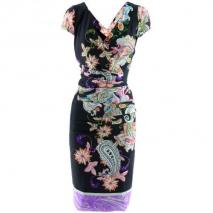 Etro Black Multi Print Dress Raffaela