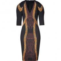 Etro Black-Multi Sheath Kleid