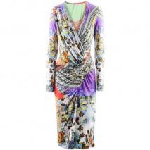 Etro Coral Viola Print Dress