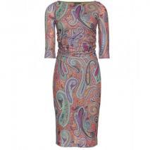 Etro Gerafftes Paisley-Print-Kleid