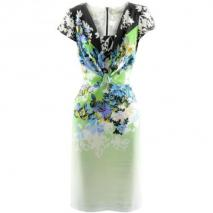 Etro Green Multi Print Dress