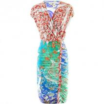Etro Green Red Multi Dress