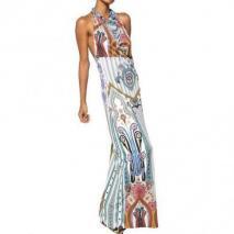 Etro Langes Bedrucktes Kleid Aus Technojersey