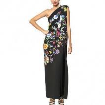 Etro Langes Bedrucktes Kleid Aus Viskosecady