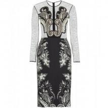 Etro Mesh-Print-Kleid