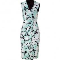 Etro Mint/Black Jersey Kleid