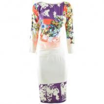 Etro Multi Flower Print Drape Dress
